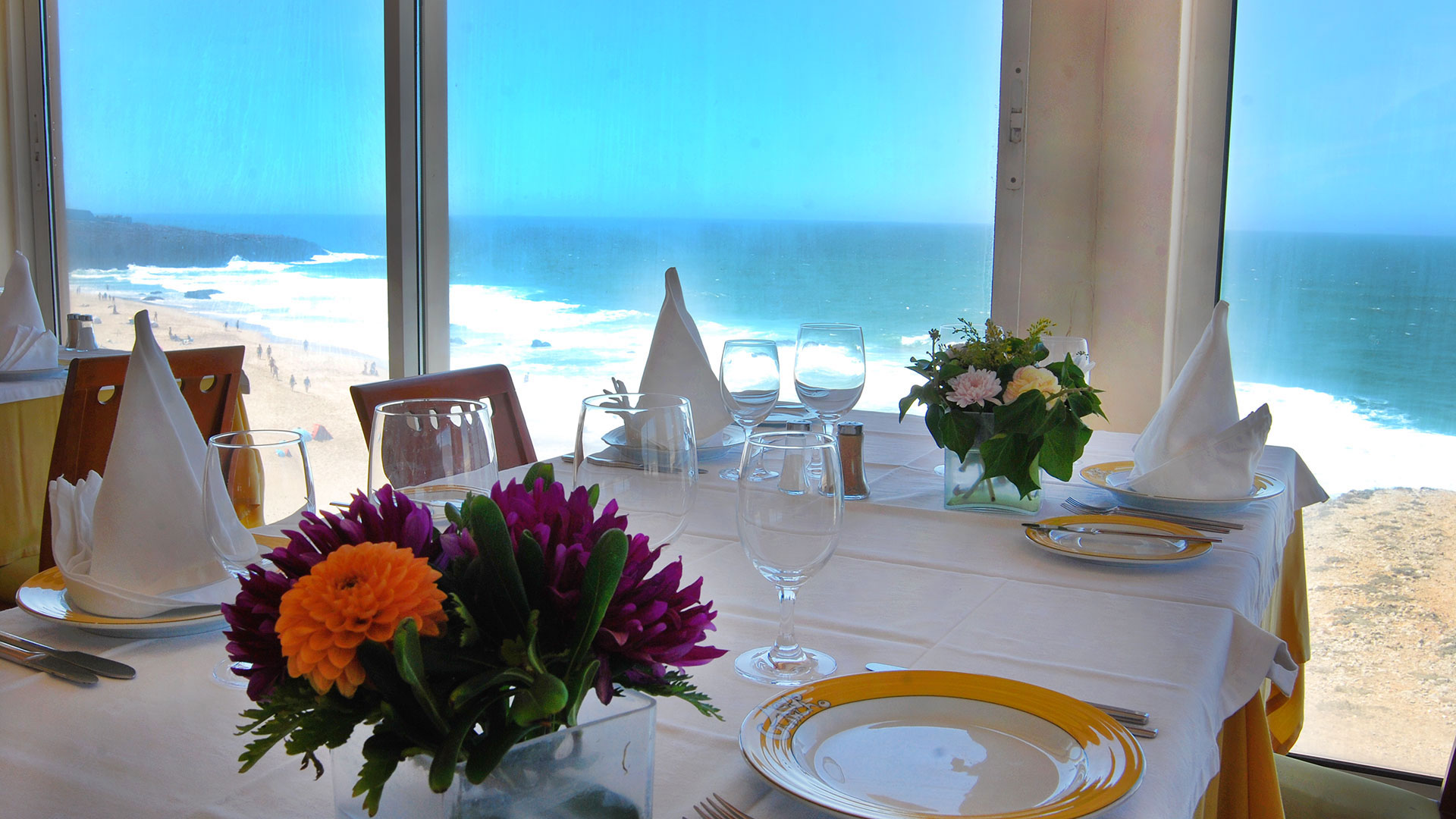 Table with sea view